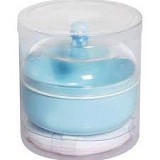 ABBYBEAR Baby Powder Case With Puff - Bedak Bayi dan Anak