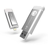 ADAM ELEMENTS iKlips Flash Drive 16GB [ADRAD16GKLPSL] - Silver - Usb Flash Disk Dual Drive / Otg