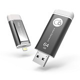 ADAM ELEMENTS iKlips Flash Drive 64GB [CC4714781443821] - Grey - Usb Flash Disk Dual Drive / Otg