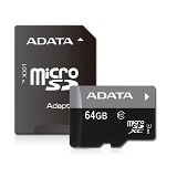 ADATA Micro SDHC UHS-1 Class10 64GB - Micro Secure Digital / Micro SD Card