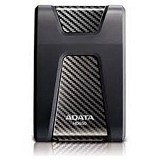 ADATA Portable HD 3.0 Slim Design Anti Shock 2TB [HD650] - Black + Free Lanyard - Hard Disk External 2.5 Inch