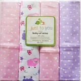 JUST FOR YOU Receiving Blanket Sheep Pink [K-RB 08] - Perlengkapan Tempat Tidur Bayi dan Anak