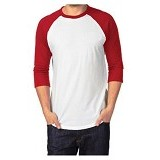 ADHERA CLOTHING Reglan Size 3XL [regputmer-3xl] - Red White - Kaos Pria