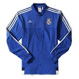 ADIDAS Real Madrid Anthem Jacket Size L [M36393]- Bold Blue - Jaket Casual Pria