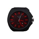 ADIDAS Sport Rubber [AS SBR 12] - Black Red - Jam Tangan Pria Sport