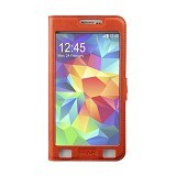 AHHA Joy Magic Flip Cover Casing for Samsung Galaxy S5 - Spark orange (Merchant) - Casing Handphone / Case