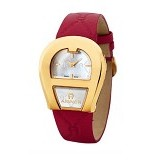 AIGNER Strap Leather Venezia [A39225]- Red Gold - Jam Tangan Wanita Casual