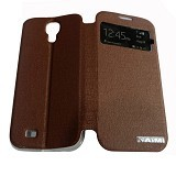 AIMI Flip Cover Fitur View for Samsung Galaxy S4 i9500 - Brown (Merchant) - Casing Handphone / Case