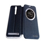 AIMI Flipcover Fitur View for Asus Zenfone 2 5.5 ZE550ML/ZE551ML - Dark Blue (Merchant) - Casing Handphone / Case