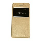 AIMI Flipcover Fitur View for Oppo Neo 5 A31T - Gold (Merchant) - Casing Handphone / Case