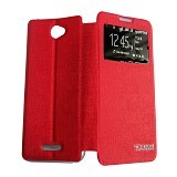 AIMI Flipcover Fitur View for Sony Xperia E4 - Red (Merchant) - Casing Handphone / Case