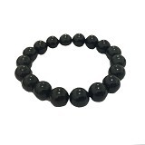 AKHA JEWELRY Gelang Kesehatan Black Jade 10mm