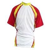 ALL SPORT Baju Olahraga Sepeda Size L [SP 011 PM] - Putih/Merah/Kuning - Jersey Pria