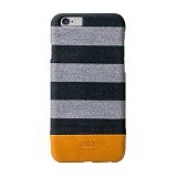 ALTO Leather Case Denim for iPhone 6 - Zebra Grey - Casing Handphone / Case