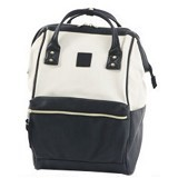 ANELLO Tas Ransel Handle Backpack Campus Rucksack L Size [NLBG03BW] - Black White (Merchant) - Backpack Wanita