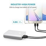 ANKER PowerCore+ 13400 Portable Charger [A1315H41] - Silver (Merchant) - Portable Charger / Power Bank