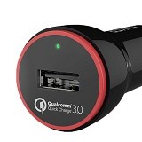 ANKER PowerDrive+ 1 with Quick Charge 3.0 [A2210012] - Black (Merchant) - Car Kit / Charger