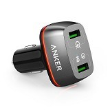 ANKER PowerDrive+ 2 with Quick Charge 3.0 [A2224011] - Black (Merchant) - Car Kit / Charger