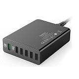 ANKER PowerPort+ 6 with Quick Charge 3.0 [A2063L11] - Black (Merchant) - Universal Charger Kit