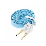 ANYLINX Cable 3.5 Audio Flat 1 Meter - Biru - Cable / Connector Analog