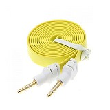 ANYLINX Cable 3.5 Audio Flat 1 Meter - Kuning - Cable / Connector Analog