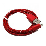 ANYLINX Cable Micro USB Net 1M - Merah - Cable / Connector Usb