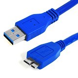 ANYLINX Kabel Data USB 3.0 Round 50CM - Blue - Cable / Connector Usb