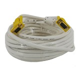 ANYLINX Cable VGA Yellow Head 3+6 High Quality 20M - White (Merchant) - Cable / Connector Vga