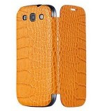 ANYMODE Folio Cover Croco Pattern for Galaxy S3 - Orange (Merchant) - Casing Handphone / Case