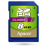 APACER SDHC 8GB - Class 10 - Secure Digital / SD Card
