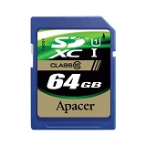 APACER SDXC 64GB - Class 10 - Secure Digital / Sd Card