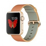 APPLE Watch 38mm Gold Aluminum [MMF52ID/A] - Red Nylon