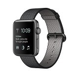 APPLE Watch 38mm Space Grey Aluminum [MMF62ID/A] - Black Nylon - Smart Watches