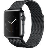 APPLE Watch 38mm Stainless Steel Milanese Loop [MMFK2ID/A] - Space Black - Smart Watches