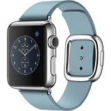 APPLE Watch 38mm Stainless Steel Modern Buckle Band Medium [MMFA2ID/A] - Blue Jay - Smart Watches