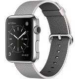APPLE Watch 38mm Stainless Steel Pearl Woven Nylon Band [MMFH2ID/A] - Smart Watches