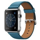 APPLE Watch 42mm Stainless Steel Classic Buckle with Saddle [MMFU2ID/A] - Marine Blue - Smart Watches