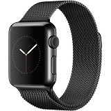 APPLE Watch 42mm Stainless Steel Milanese Loop [MMG22ID/A] - Black - Smart Watches