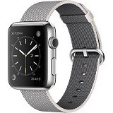 APPLE Watch 42mm Stainless Steel Pearl Woven Nylon Band [MMG02ID/A] - Smart Watches