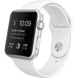 APPLE Watch Sport Aluminum 38mm - Silver/White - Smart Watches