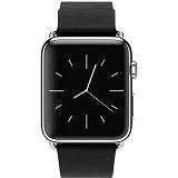 APPLE Watch Stainless Steel Classic Buckle 38mm - Silver/Black - Smart Watches