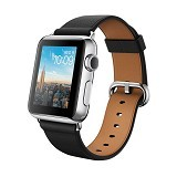 APPLE Watch Stainless Steel Classic Buckle 42mm - Silver/Black Brown - Smart Watches