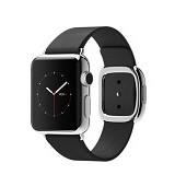 APPLE Watch Stainless Steel Modern Buckle 38mm - Silver/Black - Smart Watches