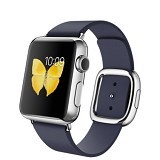 APPLE Watch Stainless Steel Modern Buckle 38mm - Silver/Midnight Blue - Smart Watches