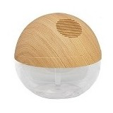 AROMATALKS Moon Air Purifier with LED & Negative Ions [BT-108WLN] - Natural Wood/Pinewood - Air Purifier