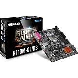 ASROCK Motherboard Socket LGA1151 [H110M-GL/D3] - Motherboard Intel Socket LGA1151