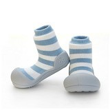 ATTIPAS Happy Walk Size L [AN06-Border] - Natural hurb Border Blue - Sepatu Anak
