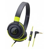 AUDIO-TECHNICA Headphone [ATH-S100iS] - Black/Green - Headphone Portable