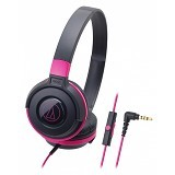 AUDIO-TECHNICA Headphone [ATH-S100iS] - Black/Pink - Headphone Portable