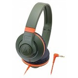 AUDIO-TECHNICA Street Monitoring Headphone [ATH-S300] - Orange/Green - Headphone Full Size